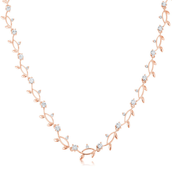 Rose Gold Tone Vineyard Necklace