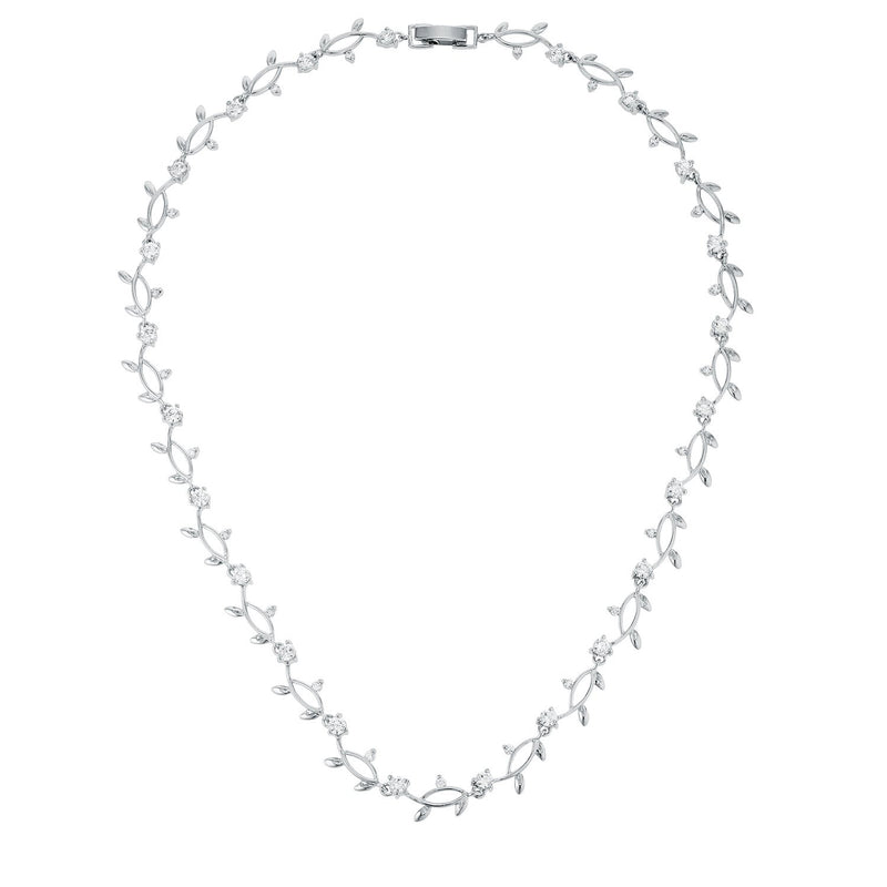 Rhodium Plated Vineyard Necklace