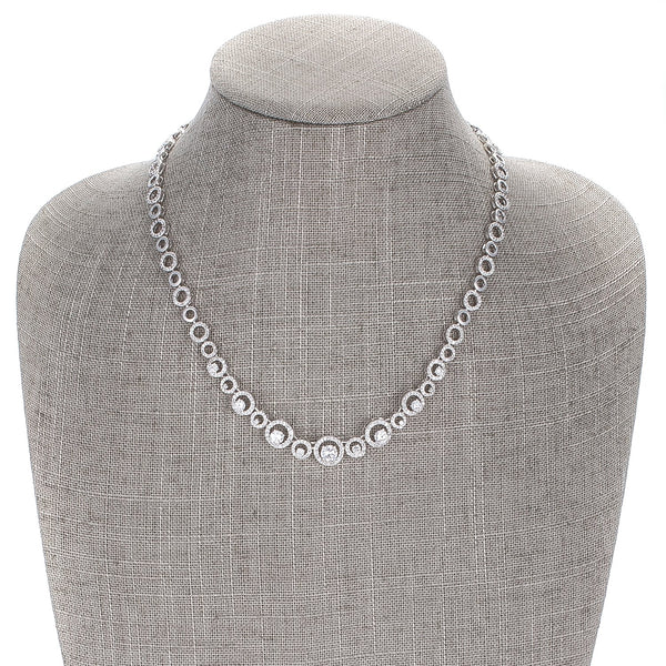 Graduated Cubic Zirconia Necklace