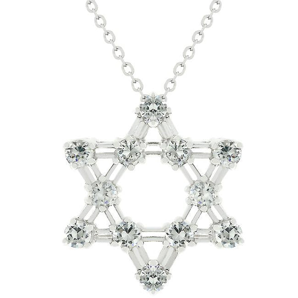 Cubic Zirconia Star Of David Pendant - THE LUSTRO HUT