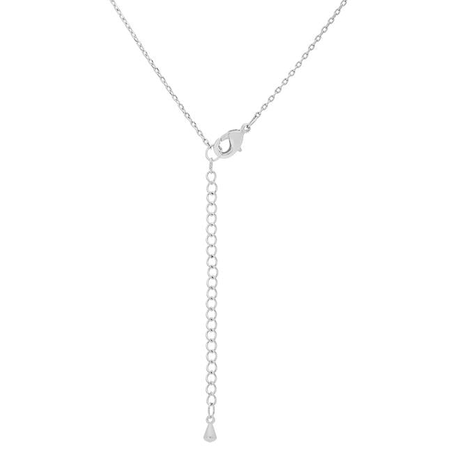Rhodium Plated Finish Initial Y Pendant
