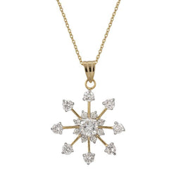 Golden Snowflake Drop Pendant - THE LUSTRO HUT