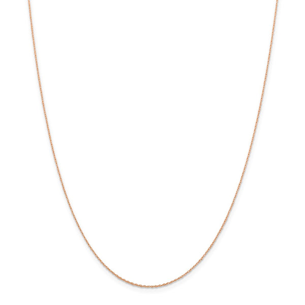 14k Rose Gold .5 mm Cable Rope Chain