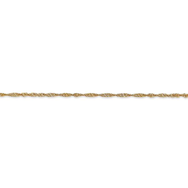 14k 1.4mm Singapore Chain Anklet