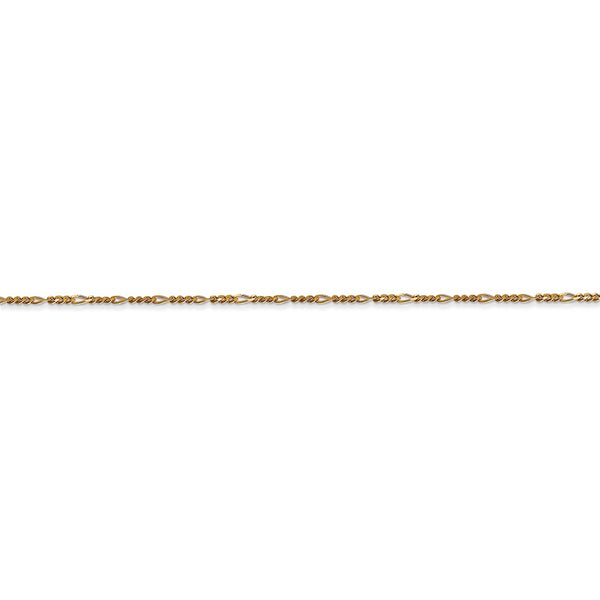 14k 1.25mm Flat Figaro Chain