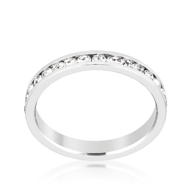 Stylish Stackables Clear Crystal Crystal Ring