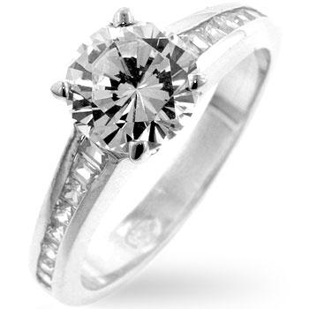 Cubic Zircon Engagement Ring