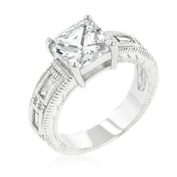 Clear Cubic Zirconia 5-Stone Ring - THE LUSTRO HUT