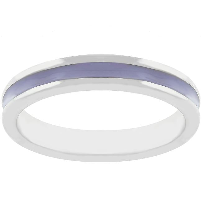 Lavender Enamel Eternity Ring - THE LUSTRO HUT
