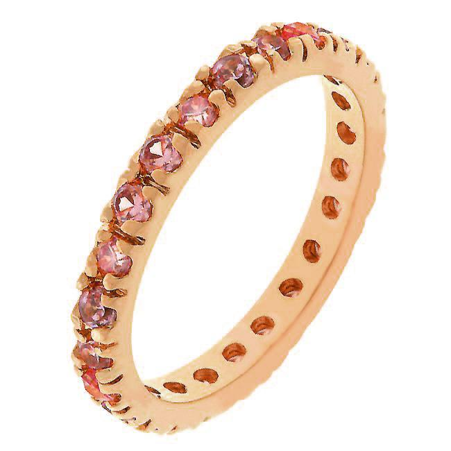 Pink Cubic Zirconia Eternity Ring