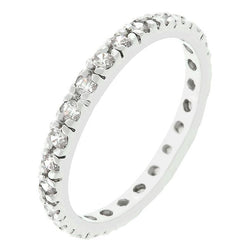 Clear Cubic Zirconia Eternity Ring - THE LUSTRO HUT