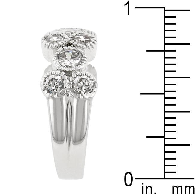 Coral Bezel Cubic Zirconia Ring - THE LUSTRO HUT