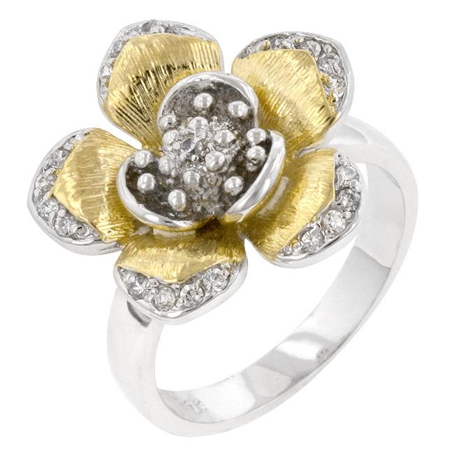 Golden Petals Cocktail Ring
