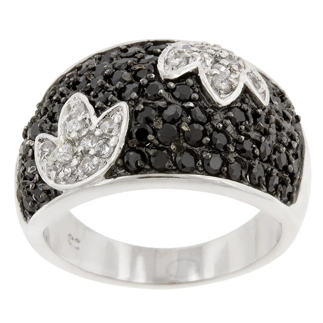 Black and White Tulip Ring