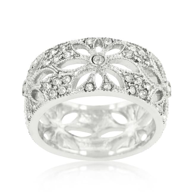 Crystal Floral Filigree Band - THE LUSTRO HUT