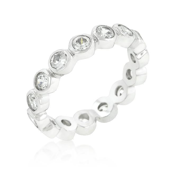 Linked Bezel Eternity Band