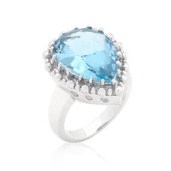 Solitaire Blue Topaz Cocktail Ring