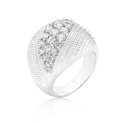 Classic Cubic Zirconia Dome Ring - THE LUSTRO HUT