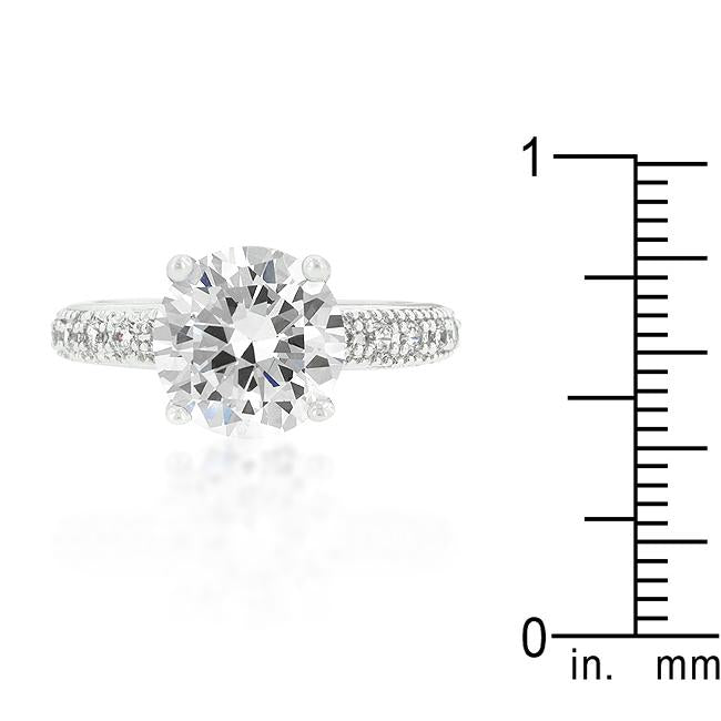 Micro-pave Cubic Zirconia Engagement Ring - THE LUSTRO HUT