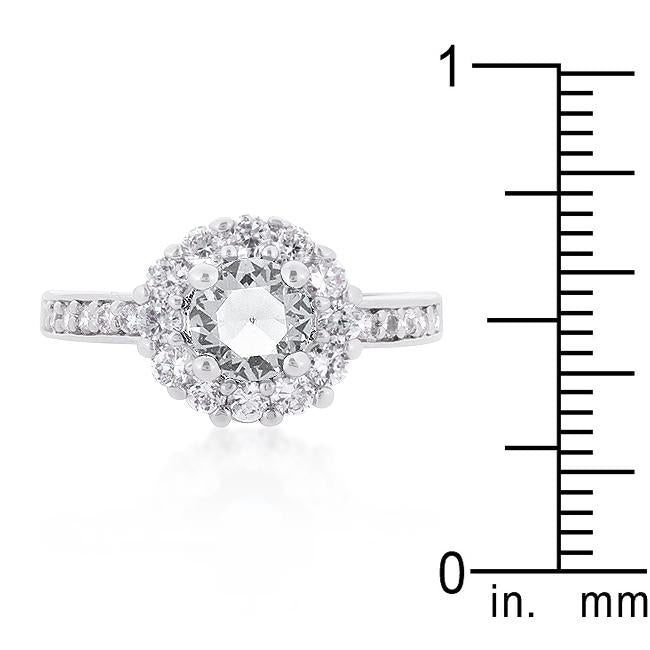 Bella Birthstone Engagement Ring in Clear - THE LUSTRO HUT