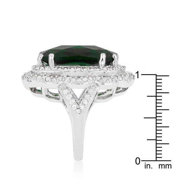 Green Cocktail Crest Ring - THE LUSTRO HUT