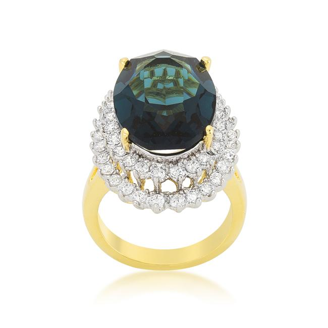 Two-tone Double Halo Cocktail Ring - THE LUSTRO HUT