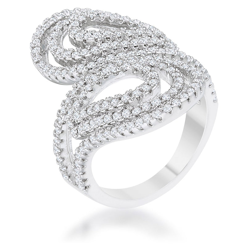Serina 1ct CZ Rhodium Pave Circle Ring