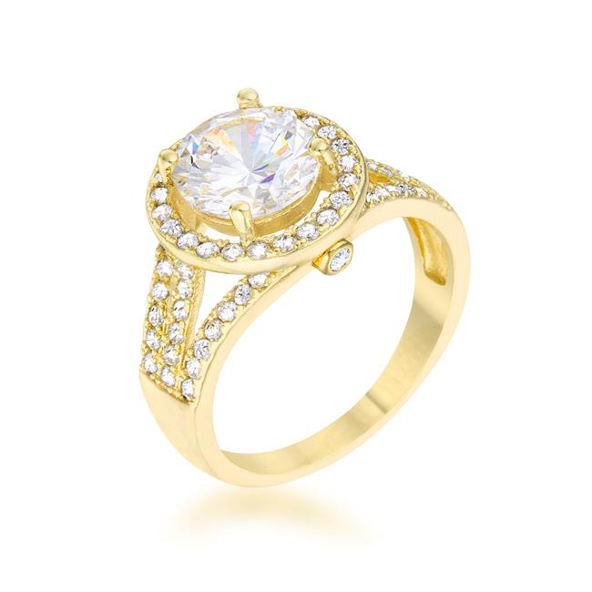 Marylin 2.5ct CZ 14k Gold Classic Ring