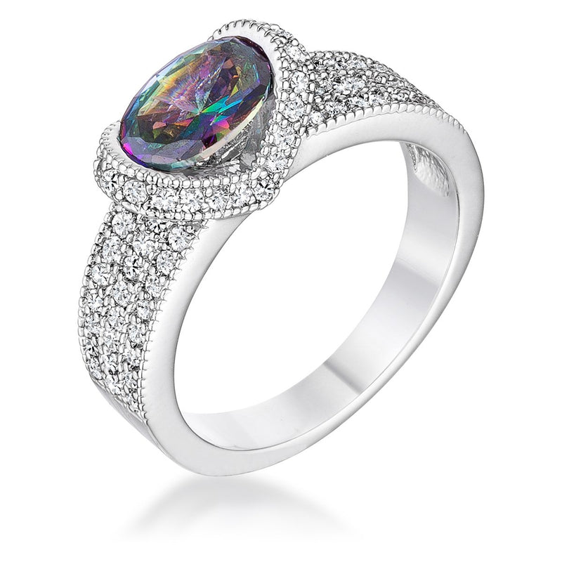 1.6 Ct Mystic Oval CZ Ring - THE LUSTRO HUT
