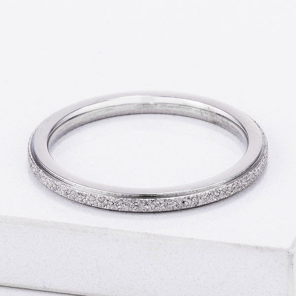 Diamond Cut Stainless Steel Stackable Ring