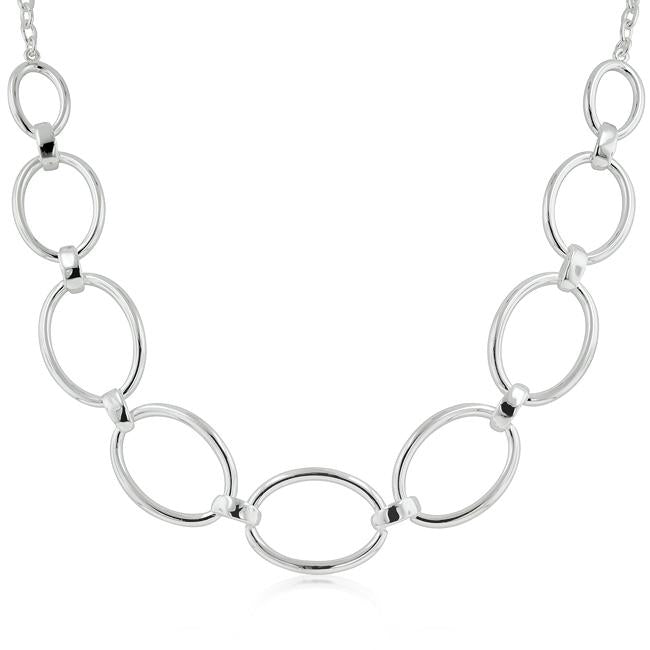 Contemporary Oval Link Necklace - THE LUSTRO HUT