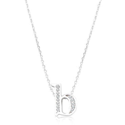 Pave Initial B Pendant - THE LUSTRO HUT