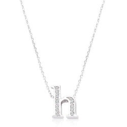 Pave Initial H Pendant - THE LUSTRO HUT