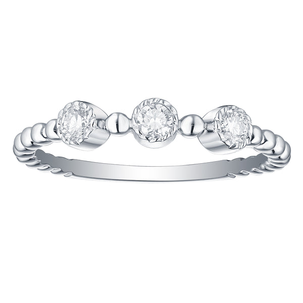 Bubbly Lab Grown Diamonds Ring 10K White Gold R-00206WHT