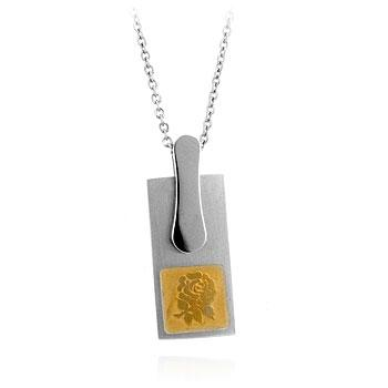 Stainless Steel Floral Silhouette Pendant - THE LUSTRO HUT