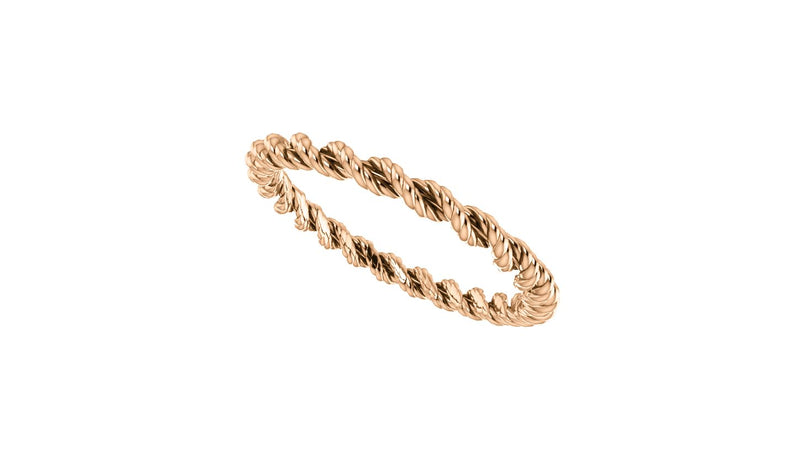 14K Rose Band Size 5