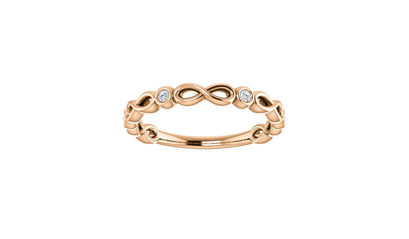 14K Rose .06 CTW Diamond Anniversary Band