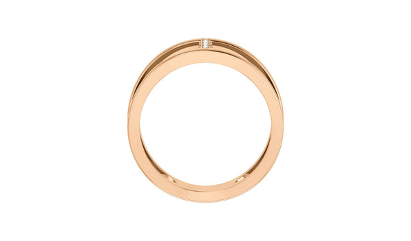 14K Rose .04 CTW Diamond Negative Space Ring - THE LUSTRO HUT
