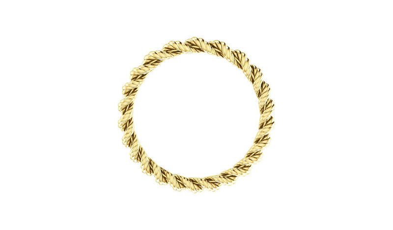 14K Yellow Band Size 5.5 - THE LUSTRO HUT