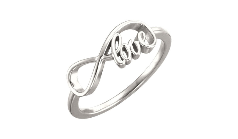 Continuum Sterling Silver Love Infinity-Inspired Ring
