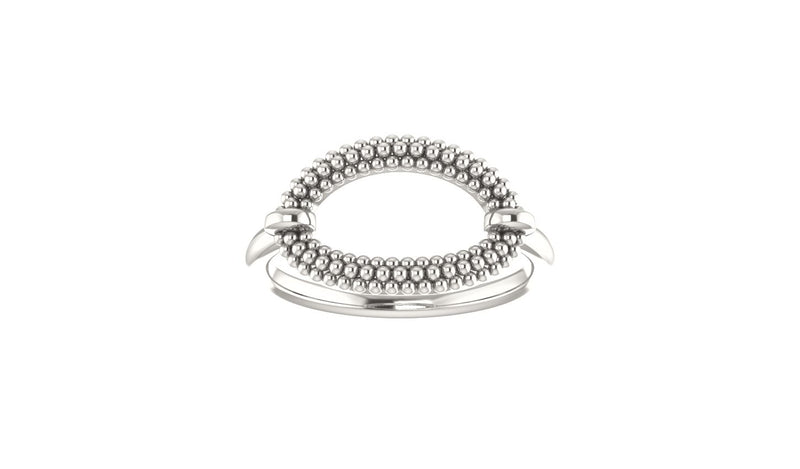 Sterling Silver Beaded Ring - THE LUSTRO HUT