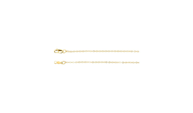"14K Yellow 1.2 mm Flat Cable 16"" Chain"