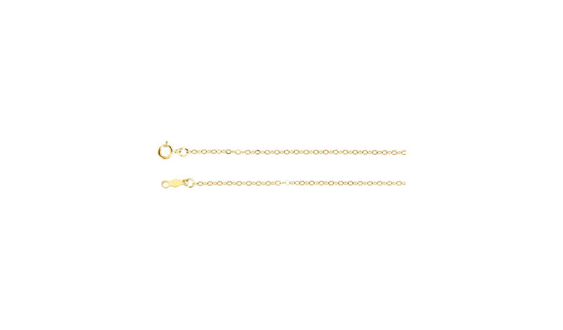 "14K Yellow 1.5 mm Cable 24"" Chain"