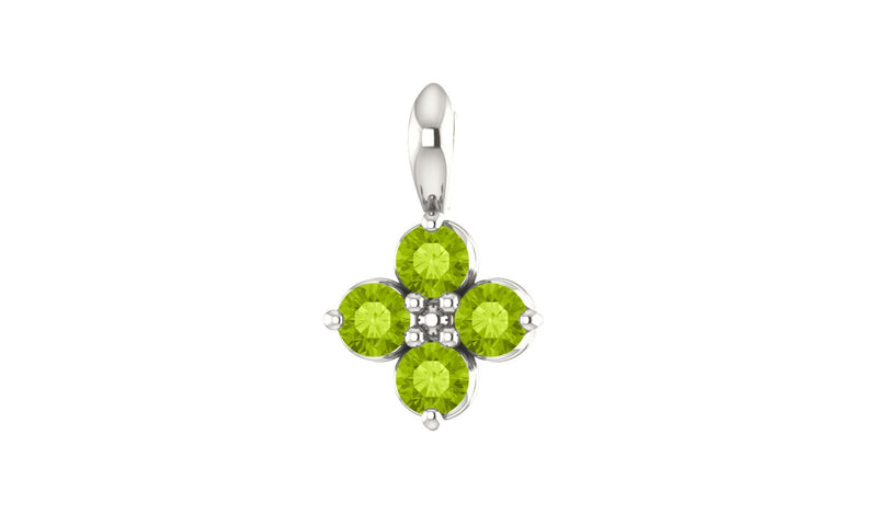 Sterling Silver Youth Imitation Peridot Pendant