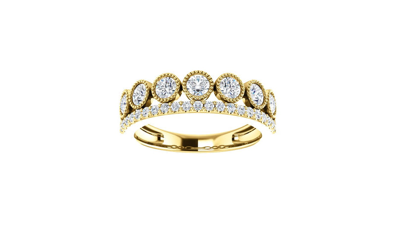 14K Yellow 1 CTW Diamond Ring