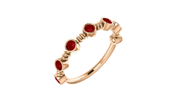 14K Rose  Ruby Ring - THE LUSTRO HUT