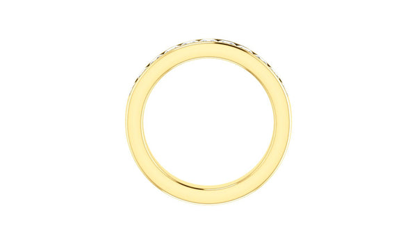14K Yellow 1 CTW Diamond Anniversary Band - THE LUSTRO HUT