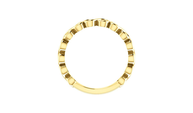 14K Yellow Infinity-Inspired Stackable Ring