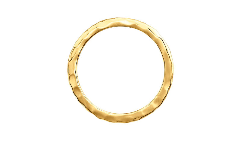 14K Yellow 2 mm Hammered Stackable Ring Size 5