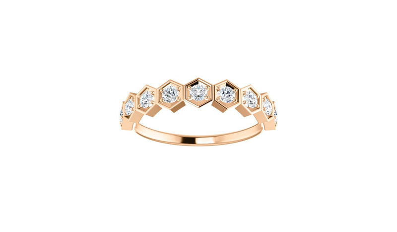 14K Rose 1/3 CTW Diamond Stackable Ring